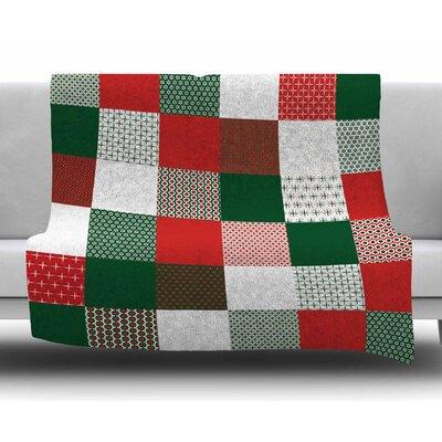 Holiday Patchwork by Carolyn Greifeld Fleece Blanket