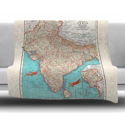 Travel to India by Catherine Holcombe Fleece Blanket