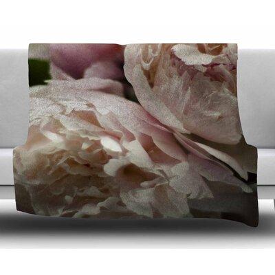 Peonies by Cristina Mitchell Fleece Blanket