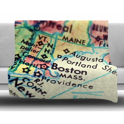 Boston on the Time by Debbra Obertanec Fleece Blanket