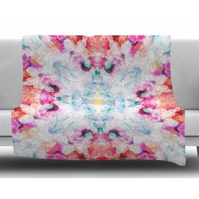 Hibiscus Kaleidoscope by Danii Pollehn Fleece Blanket
