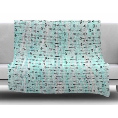 Mintyarrows by Danii Pollehn Fleece Blanket