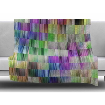 Sweet Pastel Lines 3 by Dawid Roc Fleece Blanket