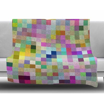 Colorful Pixels by Dawid Roc Fleece Blanket