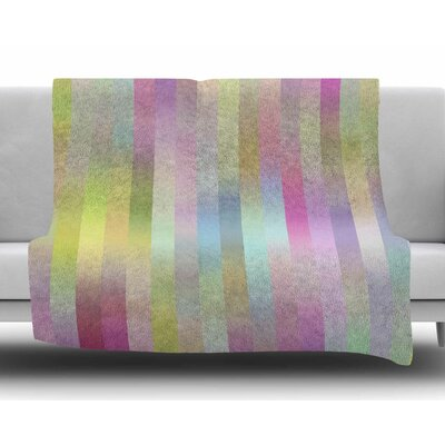 Sweet Pastel Lines 1 by Dawid Roc Fleece Blanket