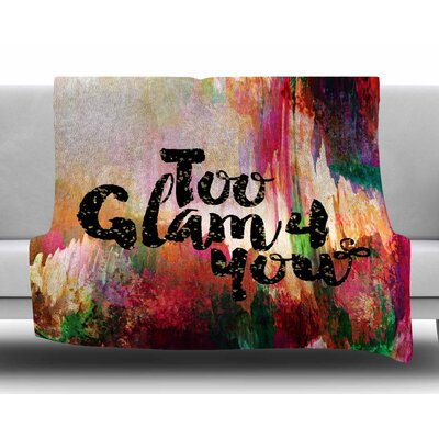 Too Glam 4 You-1 by Ebi Emporium Fleece Blanket