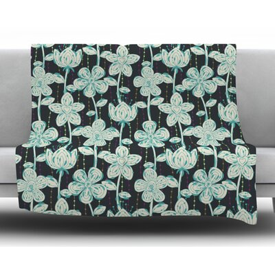 My Spotted Flowers by Julia Grifol Fleece Blanket