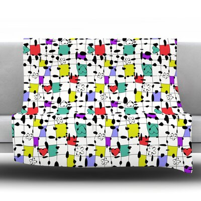 My Happy Squares by Julia Grifol Fleece Blanket