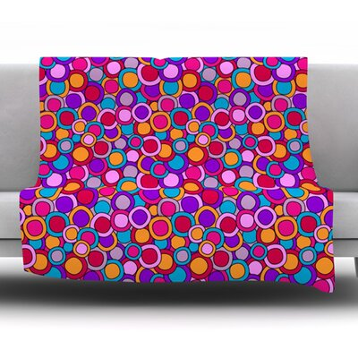 My Colourful Circles by Julia Grifol Fleece Blanket