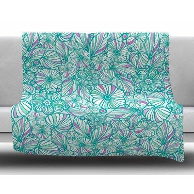 My Flowers by Julia Grifol Fleece Blanket