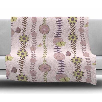 Flower by Judith Loske Fleece Blanket