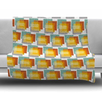 Geo1 by Juliana Motzko Fleece Blanket