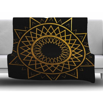 Gilded Sundial by Matt Eklund Fleece Blanket