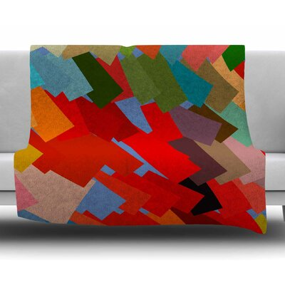 Playful Rectangles by Matthias Hennig Fleece Blanket