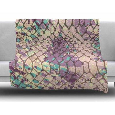 Snakeskin by Chickaprint Fleece Blanket