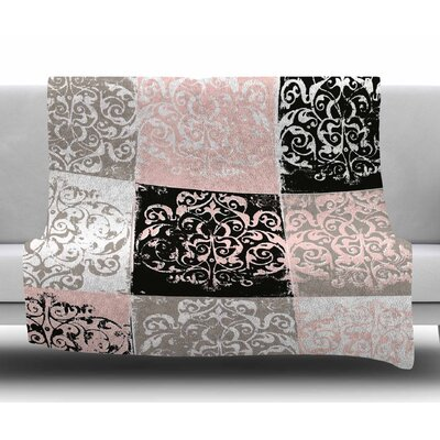 Damaskmix by Chickaprint Fleece Blanket