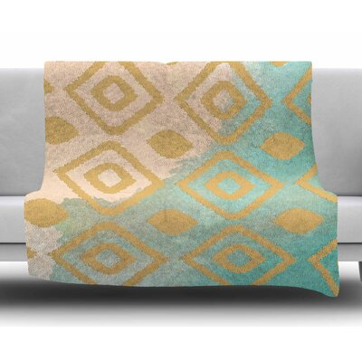Watercolor Ikat by Nika Martinez Fleece Blanket