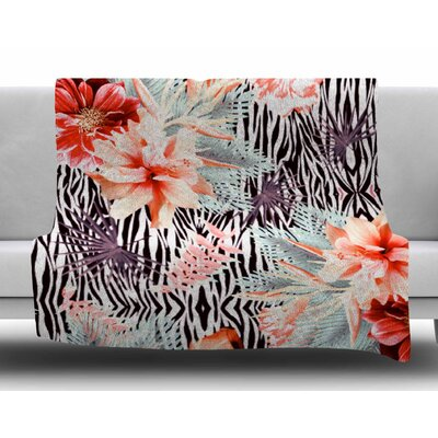 Tropical Fusion by Nika Martinez Fleece Blanket