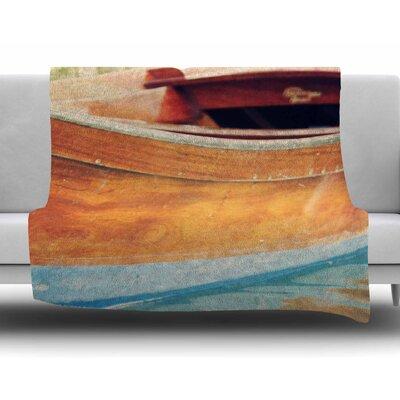 Venetian Boat by Sylvia Coomes Fleece Blanket