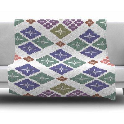 Happy Lozenge by Setsu Egawa Fleece Blanket