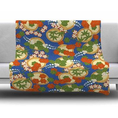 Clam and Paulownia by Setsu Egawa Fleece Blanket