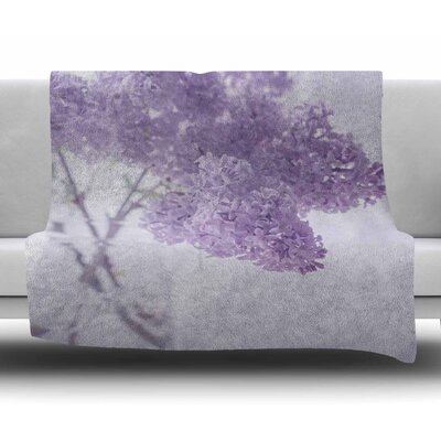 Lilacs by Suzanne Harford Fleece Blanket
