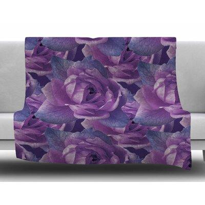 Roses by Shirlei Patricia Muniz Fleece Blanket