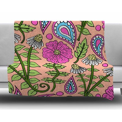 Floral Paisley by Sarah Oelerich Fleece Blanket