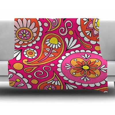 Paisley Pop by Sarah Oelerich Fleece Blanket