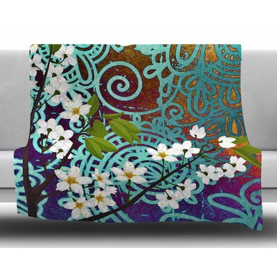 Bird and Blossom by AlyZen Moonshadow Fleece Blanket