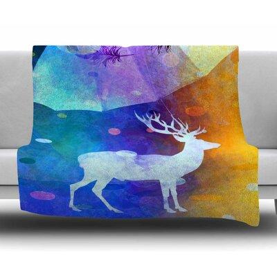 Rain Deer by alyZen Moonshadow Fleece Blanket
