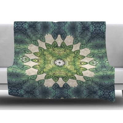 Forest Leaves Repeat by Art Love Passion Fleece Blanket
