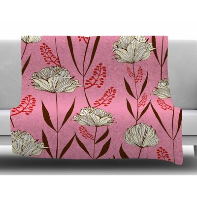 Floral by Amy Reber Fleece Blanket