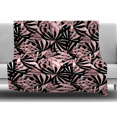 Palms by Amy Reber Fleece Blanket