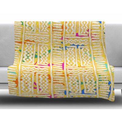 Lines and Zigzags - Colorful by Dan Sekanwagi Fleece Blanket