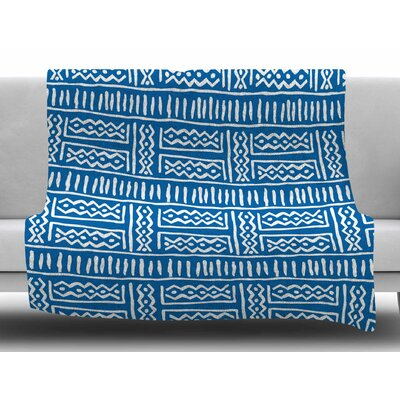 Lines and Zigzags by Dan Sekanwagi Fleece Blanket