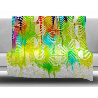 Poddy Combs - Wet Paint by Dan Sekanwagi Fleece Blanket