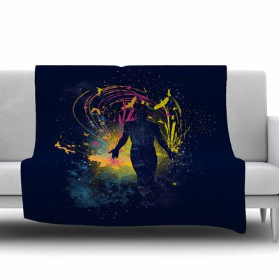 The Birds Master by Frederic Levy-Hadida Fleece Throw Blanket Size: 80 L x 60 W
