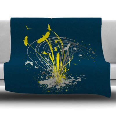 Migratory Patterns by Frederic Levy-Hadida Fleece Throw Blanket Size: 60 L x 50 W