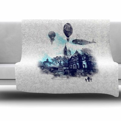 Strange Town by Frederic Levy-Hadida Fleece Throw Blanket Size: 80 L x 60 W