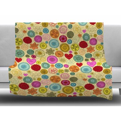 Vintage Buttons by Jane Smith Fleece Blanket