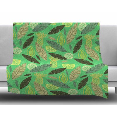 Tropical Fruits by Jane Smith Fleece Blanket