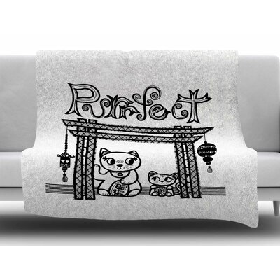 Purrfect by Jane Smith Fleece Blanket