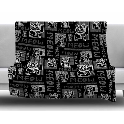 Meow Repeat by Jane Smith Fleece Blanket