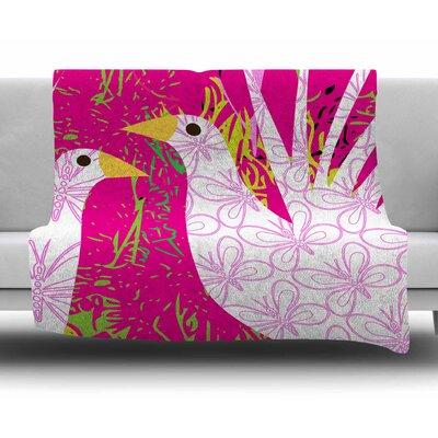 Fruit Birds by Patternmuse Fleece Blanket
