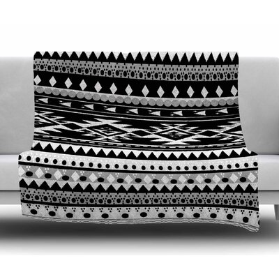 Black Hurit by Nika Martinez Fleece Blanket