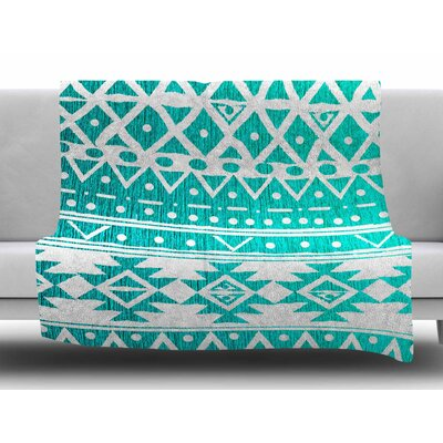 Aquamarine Tribal by Nika Martinez Fleece Blanket