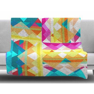 Triangle Checker by Miranda Mol Fleece Blanket