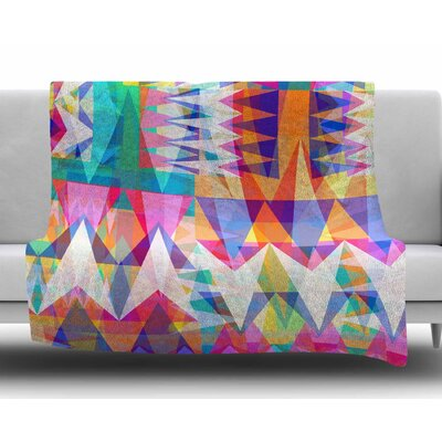 Triangle Collage by Miranda Mol Fleece Blanket