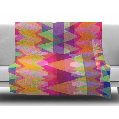 Triangle Fun by Miranda Mol Fleece Blanket